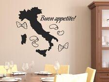 Wandtattoo Küche Italien Guten Appetit Spruch Buon appetito mit Nudeln Aufkleber