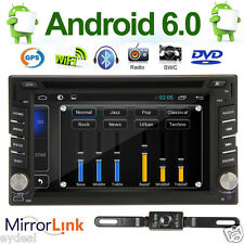 """Android 6.0 WiFi 3G GPS HD 6.2"""" 2Din In-Dash Car DVD Radio Stereo Player+Camera"""