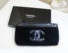 CHANEL Beauty Makeup Trousse Bag Iphone Pouch Clutch Black Velvet WITH BOX P/F!