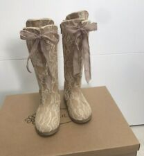 BNIB Joyfolie Lacey Boots In Rose Size 6 Brand New RARE sold out Lace
