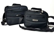 Mens Plain Black Small Travel Cabin Hand Luggage Multi Compartment  Man Bag