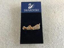 Swarovski Pave Crystal Silver Rhodium - Playful Puppy Dog Tack Pin Brooch New