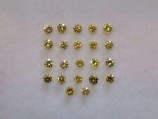 Diamonds Round 22 Stones 0.66 Carat Fancy Yellow Natural Color Enhanced
