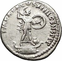 DOMITIAN son of Vespasian Silver Ancient Roman Coin Athena Minerva OWL i57507