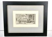 """Antique Bernard Picart Del. Et. Sculp. 1729 Engraving Print """"La Physique"""""""