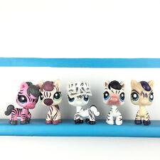 Lot 5 Littlest Petshop Zebra Horse 2078 1490 903 392 1266 LPS Set / Cheval Zèbre