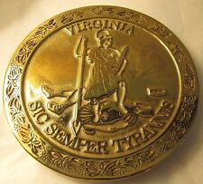 Rare / HTF Virginia Metalcrafters Brass Trivet of Commonwealth of Virginia Seal