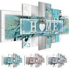 Wand Bilder Wohnzimmer Home Herz - Moderne Bilder - Wanddeko Kunstdruck