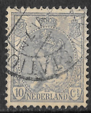 Old Netherlands stamp - 10c grey 1898 - see scan