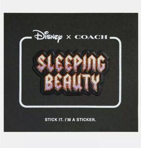 Disney X Coach SLEEPING BEAUTY Glitter Leather Sticker Patch - Limited Edition