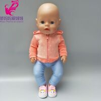 18 inch doll sport outfit set Fit 43cm Zapf Baby Born Doll clothes dress Wear