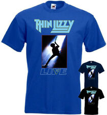 Thin Lizzy - Live v18 T-shirt hard rock black blue navy blue all sizes S-5XL