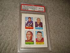 1969 TOPPS FOOTBALL 4 IN 1 PICCOLO, HANBURGER, HOWLEY & BARNES CARD, PSA 8, NM/M