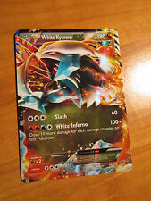 PL WHITE KYUREM EX Card PLASMA STORM Set 96/135 BW Black and White Ultra Rare