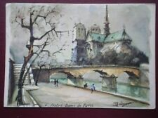 Paris Posted Single Collectable French Postcards