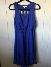 Ya Los Angeles Size Large Dress Short Ruffle Royal Blue L