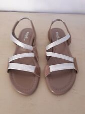 SANDALES REQINS TAUPE/ARGENT TAILLE 40 NEUVES