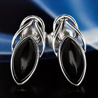 Onyx Silber 925 Ohrringe Damen Schmuck Sterlingsilber S592