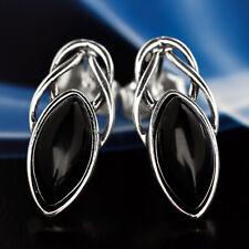 Onyx Silver 925 Earrings Ladies Jewelry Sterling Silver S592