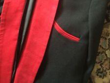 Nounours Garçon Drapé Veste en Noir avec Rouge Bordure Années 1950 Rock 'N'