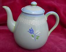 MINTON CHINESE CELADON TEAPOT TEA POT BASKET WEAVE GREEN FLORAL RARE NP1956