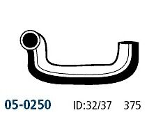 GATE'S Lower Hose 05-0250 for TOYOTA CELICA (TA22) 1.6L 4CYL (2T) 1972-1975 GATE