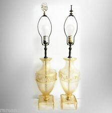 Murano Barovier and Toso clear glass and gold pair of table lamps - FREE SHIP