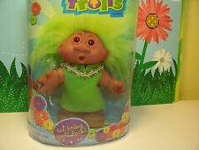 "GIRL WITH SURPRISED FACE IN FELT DRESS - 5"" Dam Troll Doll - NEW - Last Ones"