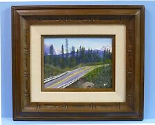 Northern Rockies Hiway Alice Hotchkins Original Oil Landscape Painting Frame Art