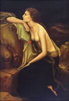 Quality Hand Painted Oil Painting Repro Herbert Draper Lamia 24x36in