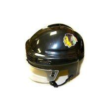 Chicago Blackhawks NHL Hockey Team Logo Black SportStar Player Mini Helmet
