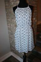 Paper Crane Anthropologie Womens Blue Blouson Dress Lined SZ L