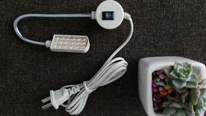 """New Sewing Machine 7"""" Gooseneck Light Lamp 18 LED Magnetic Mounting Base & Plug"""