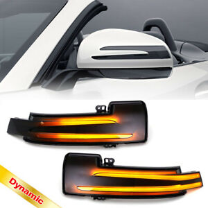 Smoked Dynamic Led Side Mirror Turn Signal Light for Mercedes C E S CLA CLS GLK