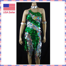 L155 Medium US2-6 Latin Rhythm Salsa Show Case Competition Dance Dress Costume