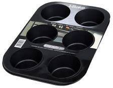 I-Bake 6 Cup Deep Muffin Pan Non Stick Grill Roast Reheat Bakeware Cookware