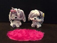 LPS Littlest Pet Shop # 465 466 Two Sheepdogs Cuddliest, Pink Rug