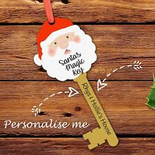 Magic Santa Key & Note Card No Chimney Father Christmas Xmas Eve Novelty Gift
