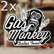"""2x pieces Gas Monkey Garage sticker decal hot rod old school Chevy Mopar 4.5"""""""