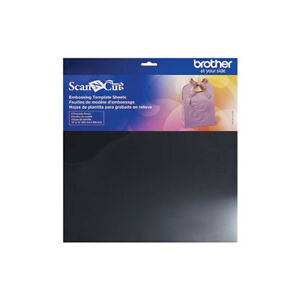 """Embossing TEMPLATE SHEET set pack x 3 Brother Scan N Cut 12x 12"""" plastic stencil"""