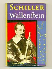 Schiller Wallenstein Goldmanns Gelbe Taschenbücher Leinenrücken 1957