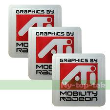 New ATI MOBILITY RADEON Sticker 20mm x 20mm (3 pieces)
