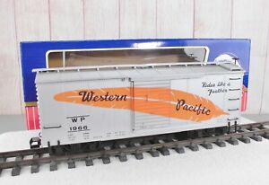"""USA TRAINS (R-1966) WESTERN PACIFIC """"Rides Like  Feather"""" BOX CAR   (D)"""