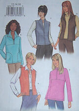 OOP misses 12-16 PATTERN fleece VEST & JACKET part or full front zipper fitted
