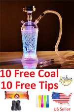 Portable Hookah Shisha Smoking Travel Cup With LED Light w FREE Tips & Charcoal