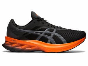 ASICS NOVABLAST Noir Baskets homme Sneakers running Black Orange 1011A681-004