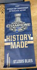 St Louis Blues Stanley Cup Champions 2019 vinyl street pole lamp Proof Banner