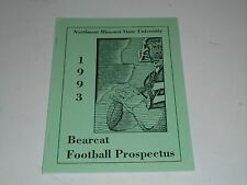 1993 NORTHWEST MISSOURI STATE COLLEGE FOOTBALL MEDIA GUIDE EX-MINT BOX 28
