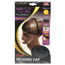 Qfitt Deluxe Customized Weaving Wig Cap Mesh Net Wire Flex Regular #501 Black