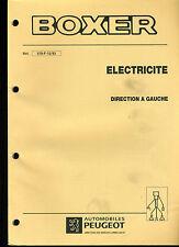(120) MANUEL ATELIER RÉPARATION PEUGEOT BOXER Schémas électriques du 12-1993